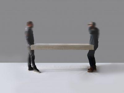 Beton Tisch von Messoni