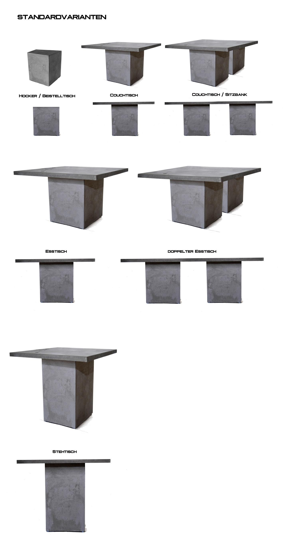 leichte beton möbel messoni