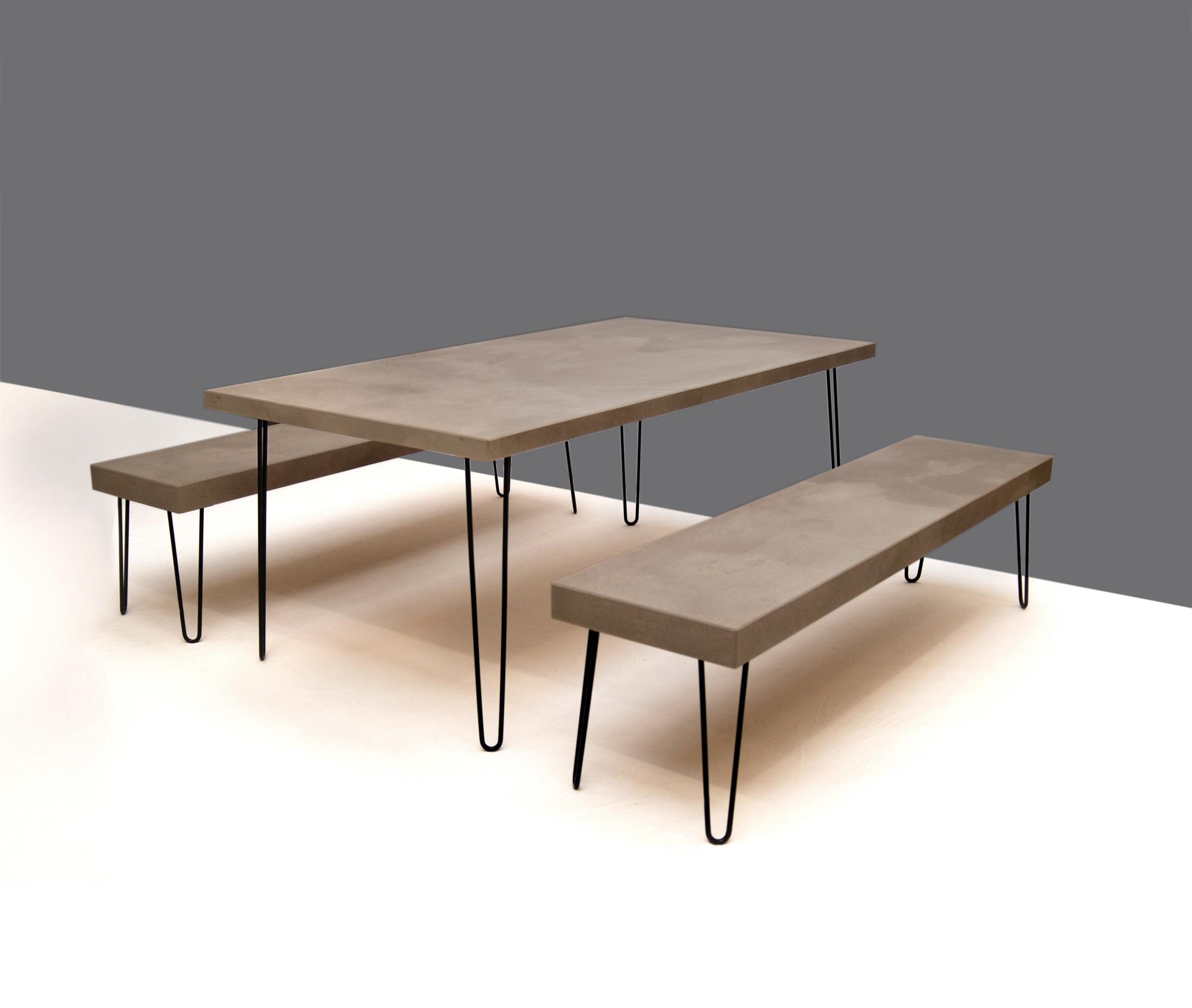 betonsitzbank,betonsitzgarnitur,beton bank, beton tisch von messoni