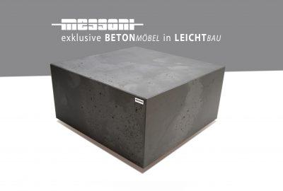 betoncouchtisch betonmöbel betontisch von messoni